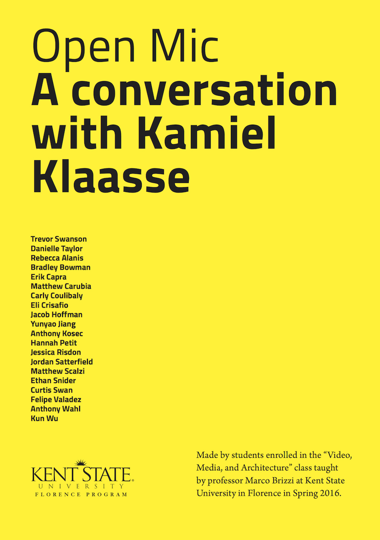 OPEN MIC - Kamiel Klaasse_cover