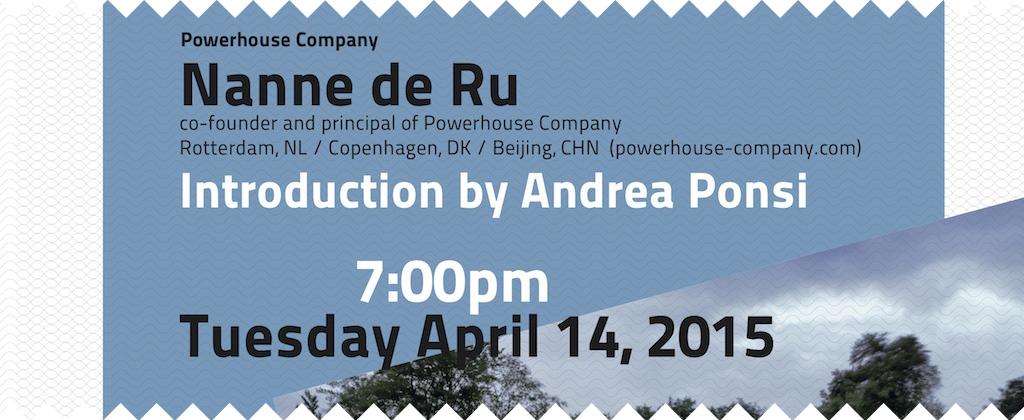 Spring 2015, lecture by Nanne de Ru.