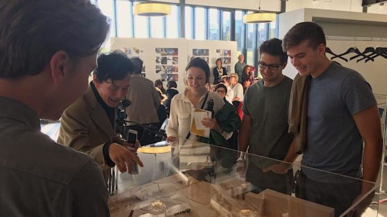 Fall 2016. Students with Dutch architect Maurice Nio.