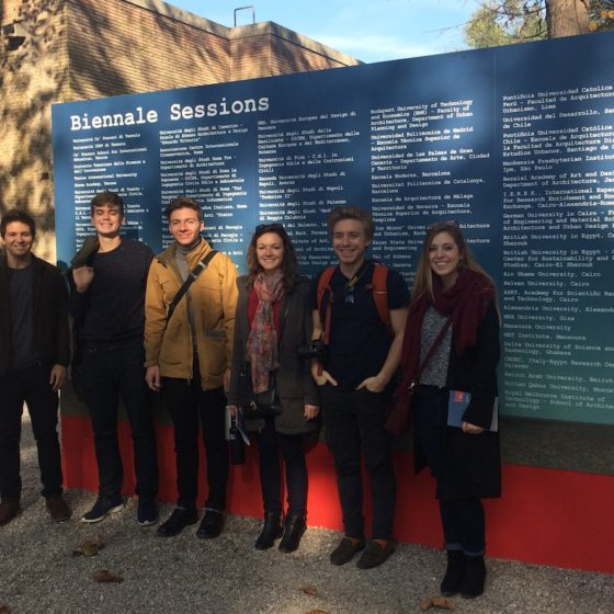 Fall 2016. Students at the Venice Architecture Biennale.
