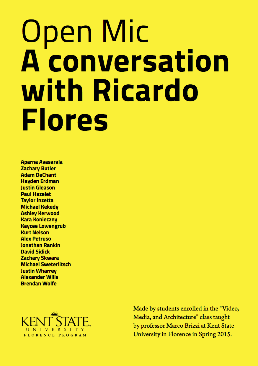 Open Mic. A conversation with Ricardo Flores.