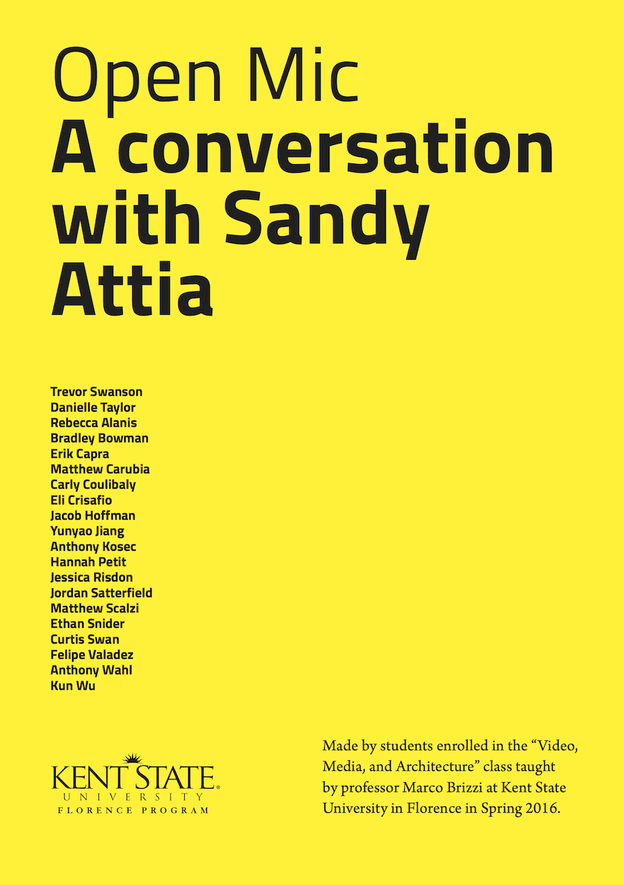 Open Mic. A conversation with Sandy Attia.